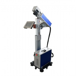 Online fly fiber laser marking machine